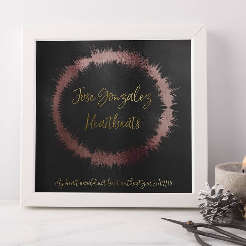 Personalised Sound Wave Loop Print