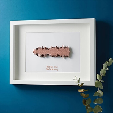 Personalised 3D Sound Wave Print