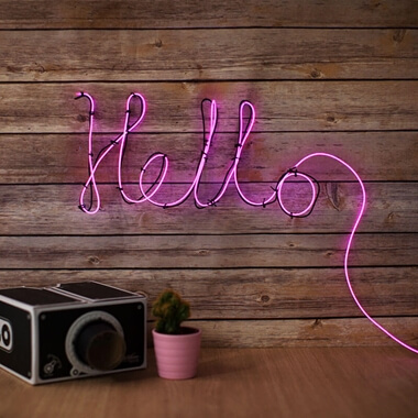 Make Your Own Neon Effect Sign - Pink