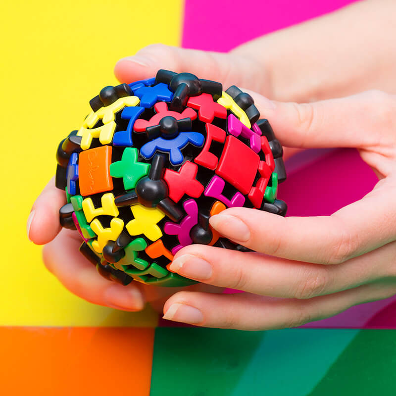 Gear Ball Brain Teaser Puzzle