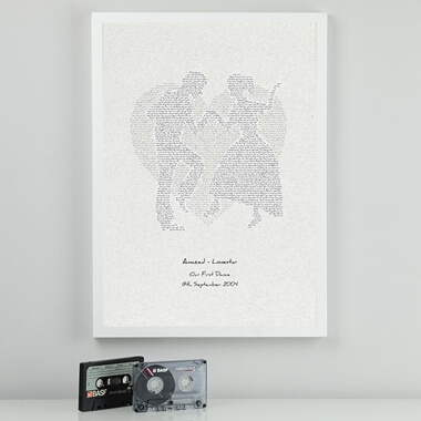 Personalised First Dance Lyrics Print