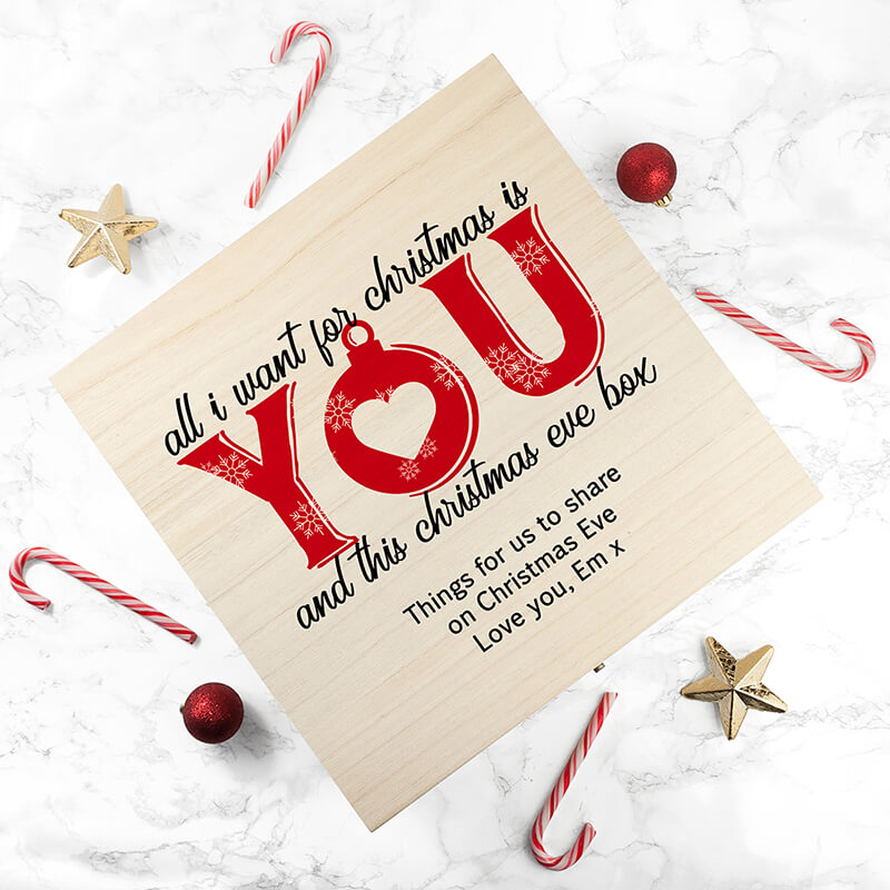 I Dont Want A Lot For Christmas.Personalised Couples Christmas Eve Box
