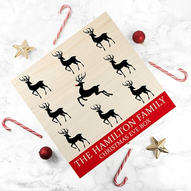 Personalised Reindeer Family Christmas Eve Box