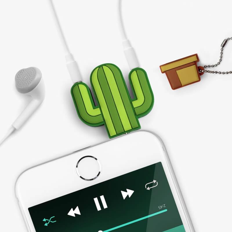 Cactus Headphone Splitter