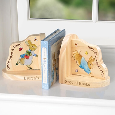 Personalised Peter Book Ends