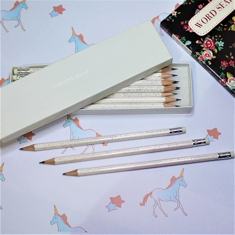 Personalised Unicorn Squad Pencils
