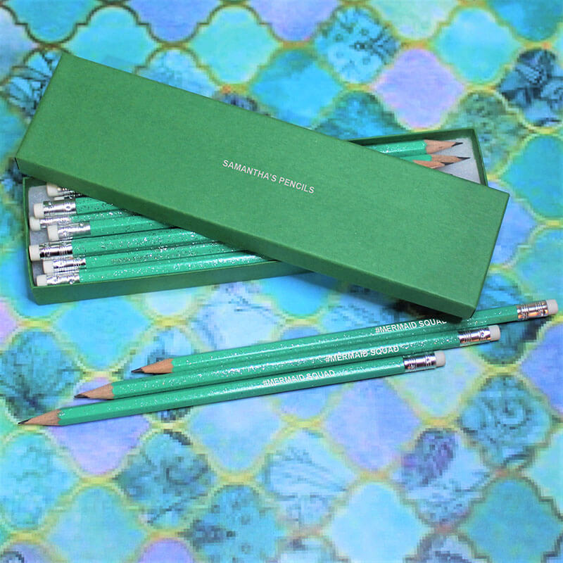 Personalised Mermaid Squad Pencil Set