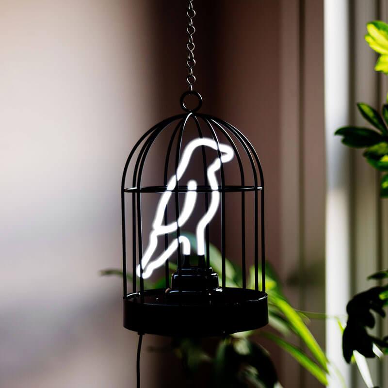 Birdcage Neon Lamp
