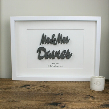 Personalised 3D Couples Frame