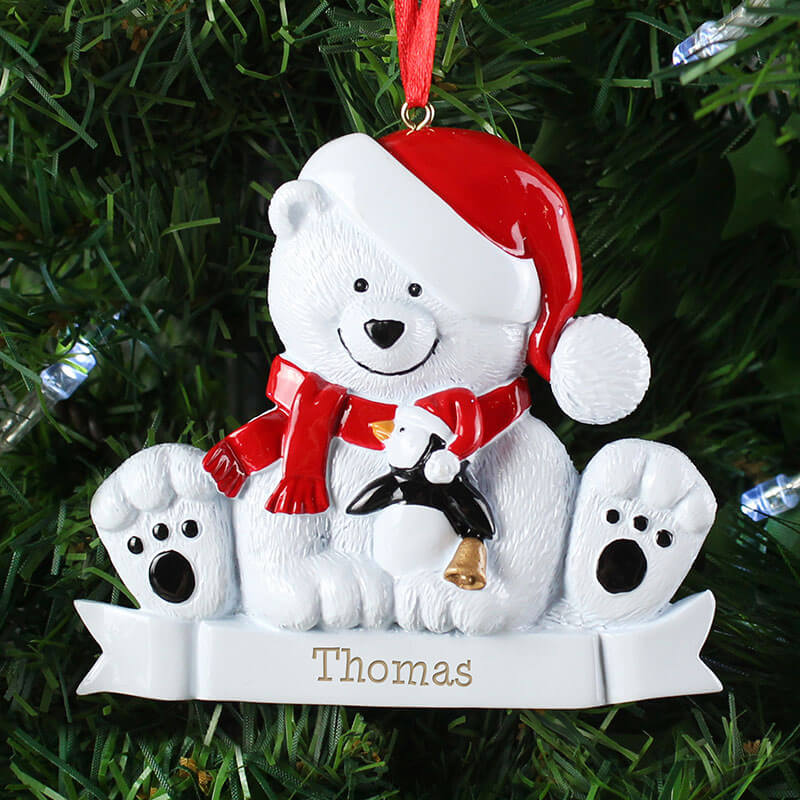 Personalised Polar Bear Decoration