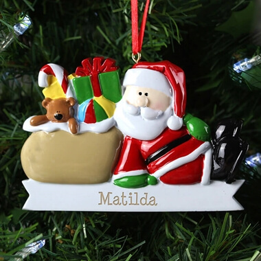 Personalised Santa Claus Decoration