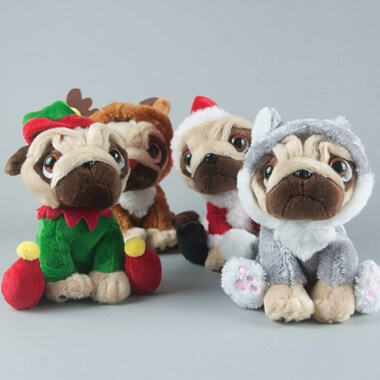 Personalised Christmas Pug