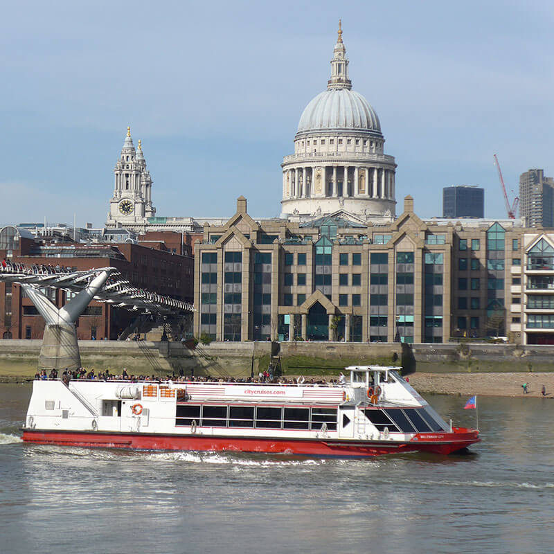 2 for 1 Thames Sightseeing Cruise River Red Rover Pass