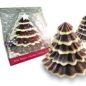 Solid Belgian Chocolate Christmas Tree