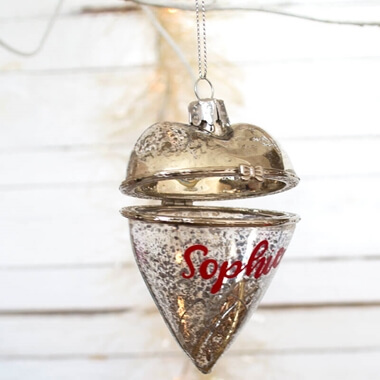 Personalised Open Latch Bauble