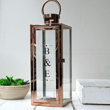 Personalised Copper Lantern