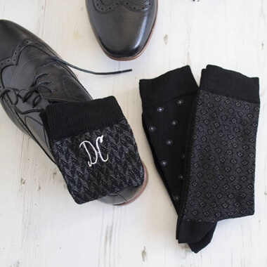 Personalised Set Of Men's Monogrammed Socks