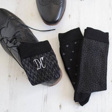 Personalised Set Of Men's Monogrammed Socks