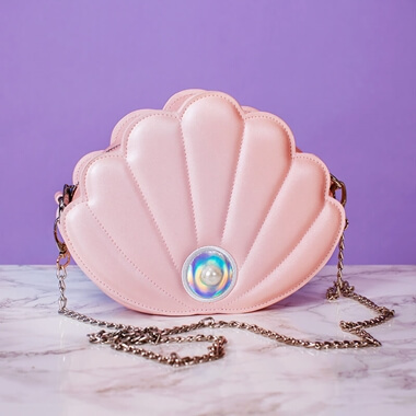 Pink Pearl Shell Mermaid Bag