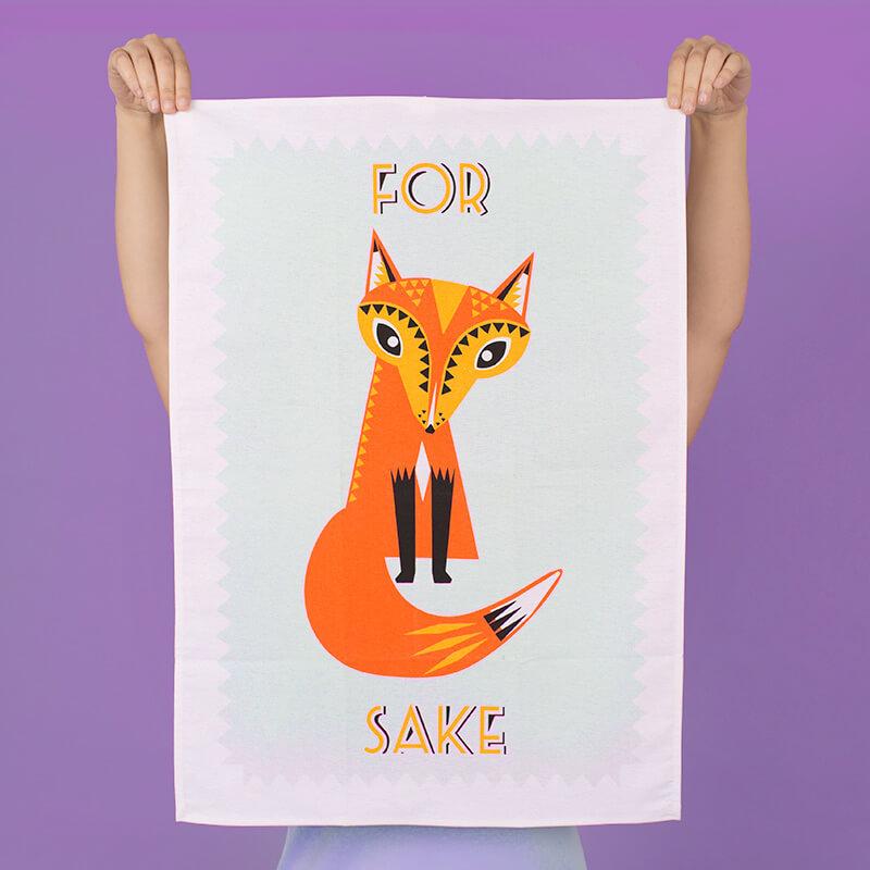 For Fox Sake Tea Towel