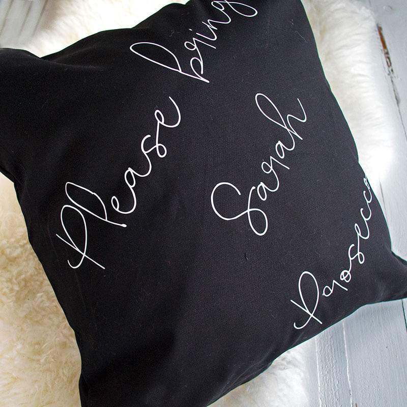 Personalised Bring Prosecco Cushion