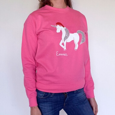 Personalised Unicorn Christmas Jumper