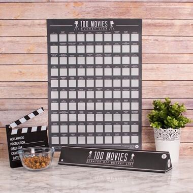 100 Movies Scratch Off Poster & 30th Birthday Gifts For Him -Buy from Prezzybox.com