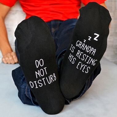 Personalised Do Not Disturb Socks