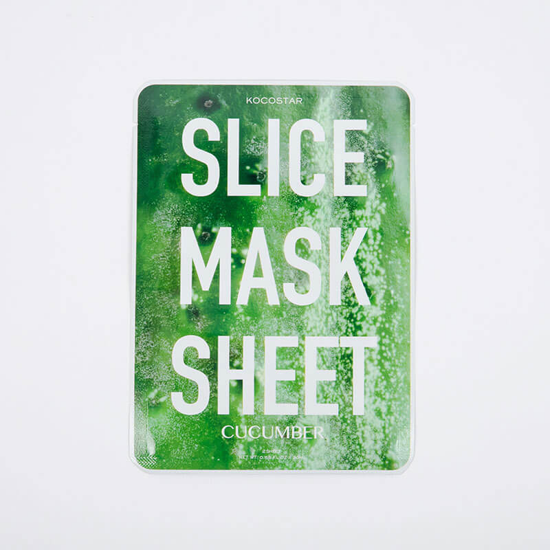 Kocostar Korean Beauty Slice Face Mask Sheets - Cucumber