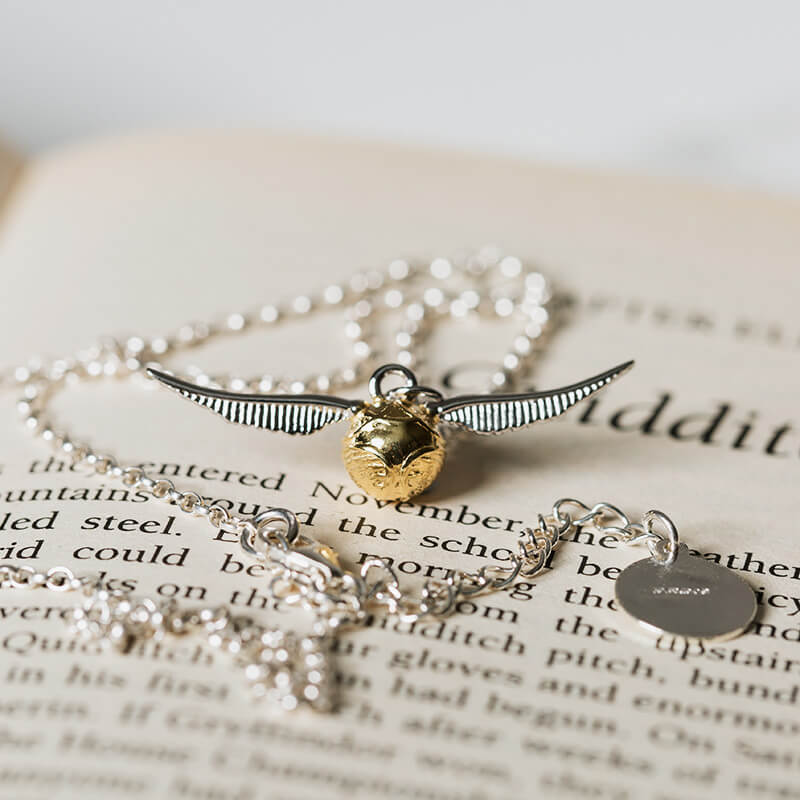 Sterling Silver Harry Potter Golden Snitch Necklace