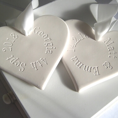 Personalised Ceramic Heart