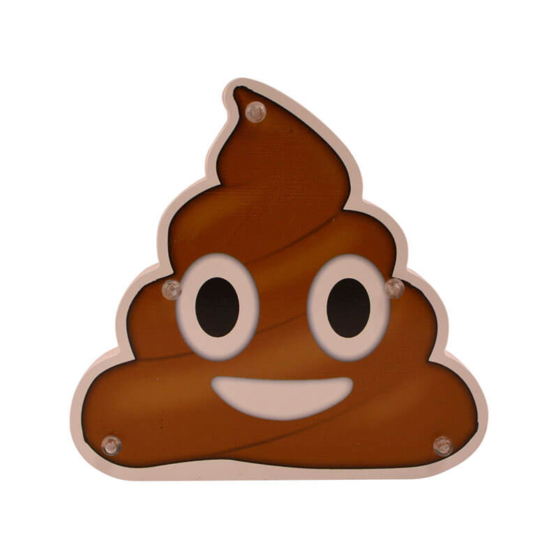 Light Up Wooden Sign - Cute Poop