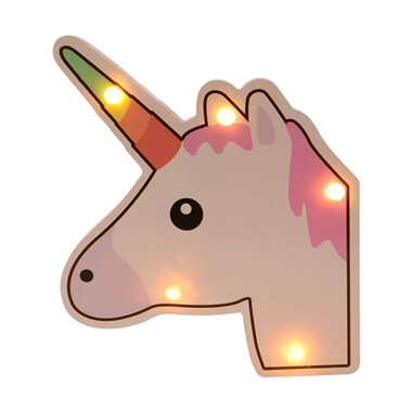 Light Up Wooden Sign - Unicorn