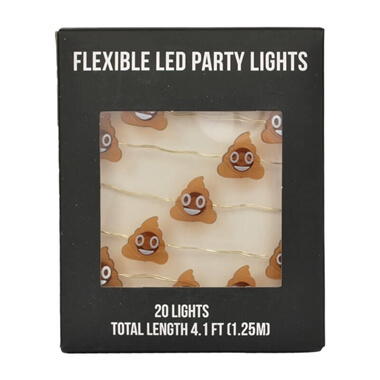LED Party Lights - Cute Poop