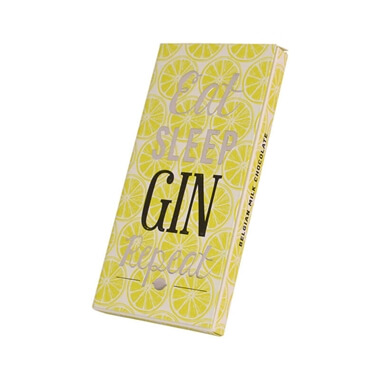 Eat Sleep Gin Repeat Chocolate Bar