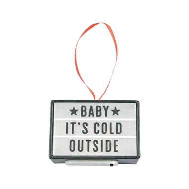 Baby Its Cold Outside Cinema Light Box Tree Decoration