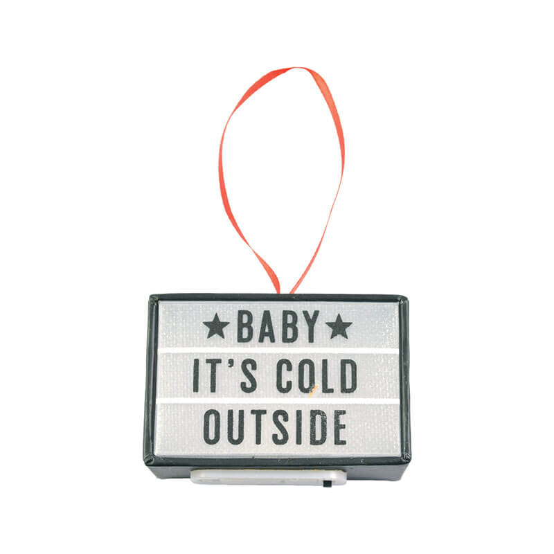 Baby It's Cold Outside Cinema Light Box