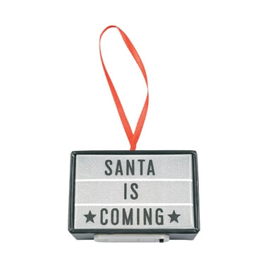 Santa Is Coming Cinema Light Box Tree Decoration