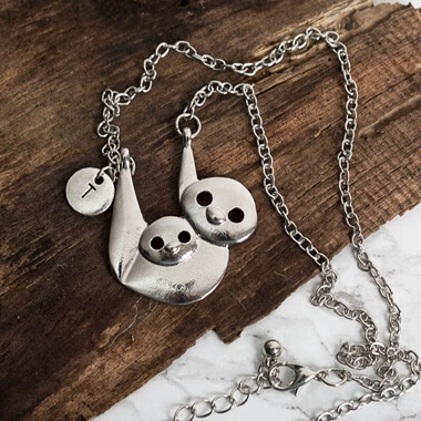 Personalised Sloth Necklace