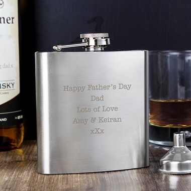 Personalised Stainless Steel Hip Flask
