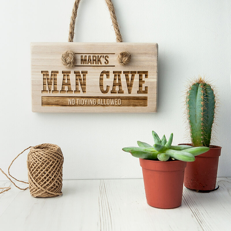 Personalised Wooden Man Cave Sign
