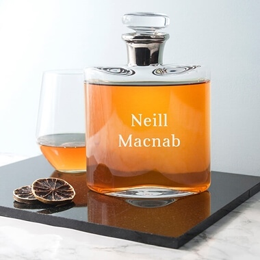 Personalised LSA Platinum Necked Decanter
