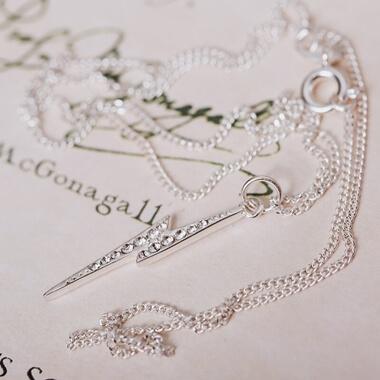Swarovski Crystal Harry Potter Lightning Bolt Necklace