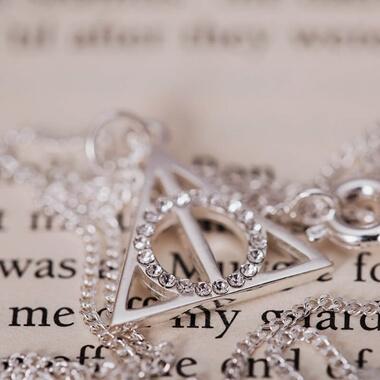Swarovski Crystal Harry Potter Deathly Hallows Necklace