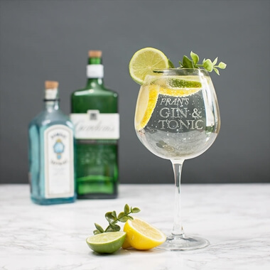 Personalised Gin Tonic Balloon Glass