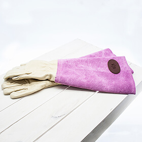 Personalised Leather Gardening Gloves