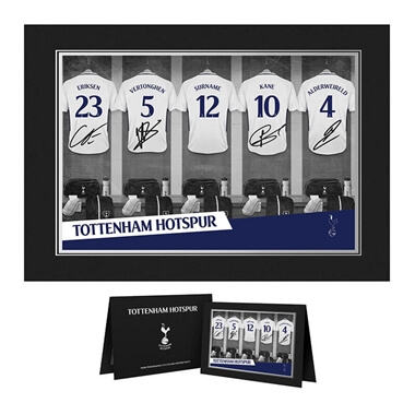 Personalised Tottenham Hotspur Dressing Room Photo Folder