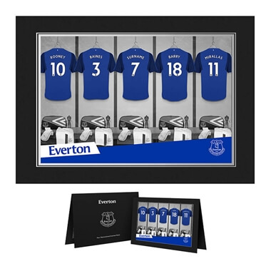 Personalised Everton Dressing Room Photo Folder