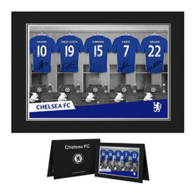 Personalised Chelsea Dressing Room Photo Folder