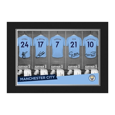 Personalised Manchester City Dressing Room Photo Folder